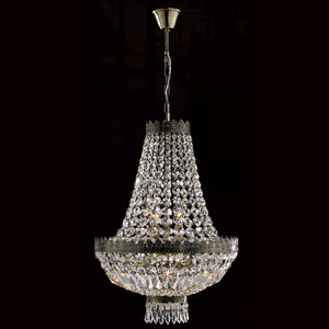 Metropolitan Six-Light Antique Bronze Finish with Clear-Crystals Chandelier