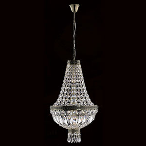 Metropolitan Antique Bronze Finish with Clear-Crystals Pendant