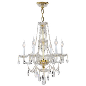 Provence Polished Gold Six-Light Chandelier