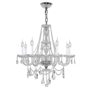 Provence Polished Chrome Eight-Light Chandelier