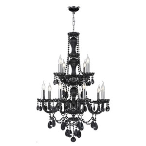 Provence Polished Chrome 12-Light Chandelier