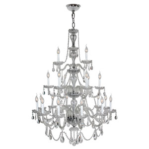 Provence Polished Chrome Twenty-One Light Chandelier