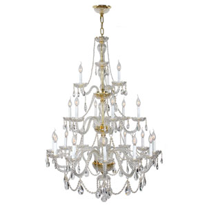 Provence Polished Gold Twenty-One Light Chandelier