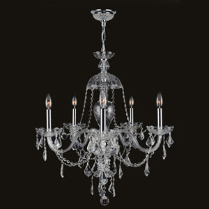 Provence Seven-Light Chrome Finish with Clear-Crystals Chandelier