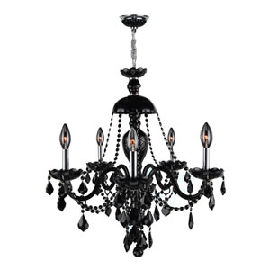 Provence 12-Light Chrome Finish with Black Crystal Chandelier