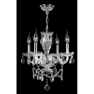 Provence Four-Light Chrome Finish with Clear-Crystals Chandelier