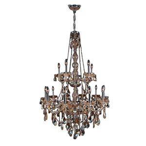 Provence Polished Chrome Fifteen-Light Chandelier