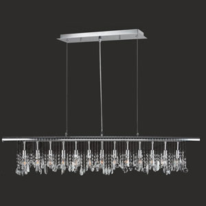 Nadia 13-Light Chrome Finish with Clear-Crystals Pendant