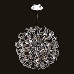 Medusa 25-Light Chrome Finish with Clear-Crystals Chandelier