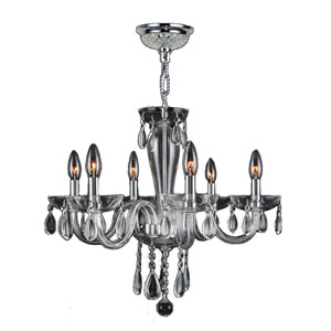 Gatsby Polished Chrome Six-Light Chandelier