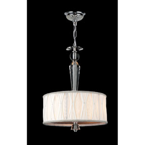 Gatsby Three-Light Chrome Finish with Clear-Crystals Chandelier