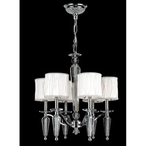 Gatsby Six-Light Chrome Finish with Clear-Crystals Chandelier