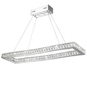 Galaxy Polished Chrome 42-Inch LED 19-Light Pendant