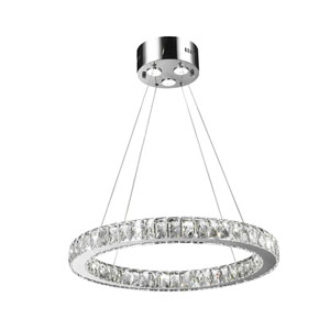 Galaxy Polished Chrome 24-Inch LED 15-Light Pendant