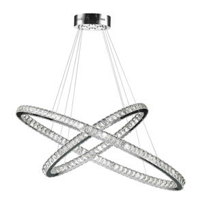 Galaxy Polished Chrome 48-Inch LED 30-Light Pendant