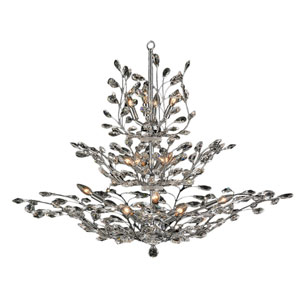 Aspen Polished Chrome Eighteen-Light Chandelier