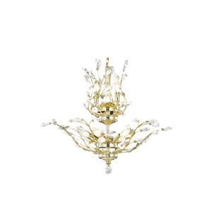 Aspen Polished Gold Eight-Light Chandelier