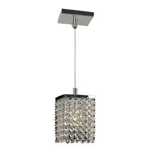 Prism Polished Chrome One-Light Mini Pendant