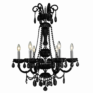 Carnivale Polished Chrome Six-Light Chandelier