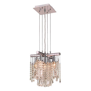 Nadia Polished Chrome Five-Light Chandelier
