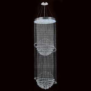 Saturn Eight-Light Chrome Finish with Clear-Crystals Chandelier
