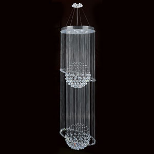 Saturn 12-Light Chrome Finish with Clear-Crystals Chandelier