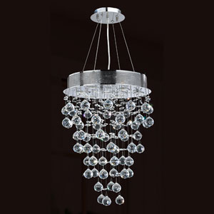 Icicle Seven-Light Chrome Finish with Clear-Crystals Chandelier