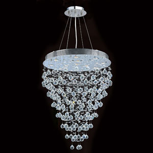 Icicle 13-Light Chrome Finish with Clear-Crystals Chandelier