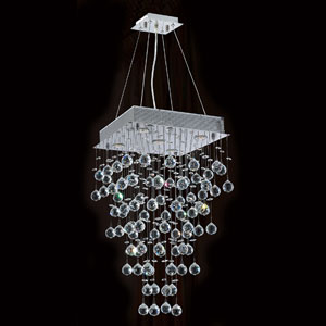 Icicle Five-Light Chrome Finish with Clear-Crystals Chandelier
