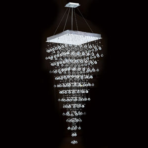 Icicle 10-Light Chrome Finish with Clear-Crystals Chandelier