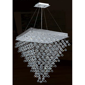 Icicle 16-Light Chrome Finish with Clear-Crystals Chandelier