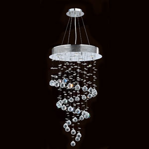 Helix Six-Light Chrome Finish with Clear-Crystals Chandelier