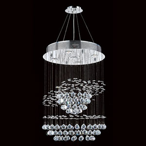 Helix Five-Light Chrome Finish with Clear-Crystals Chandelier