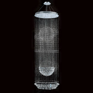 Saturn 13-Light Chrome Finish with Clear-Crystals Chandelier