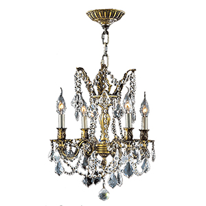 Windsor Flemish Brass Four-Light Chandelier
