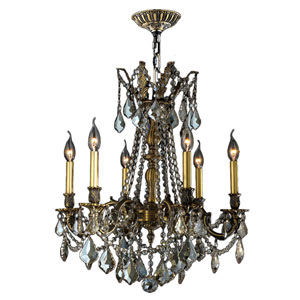 Windsor Antique Bronze Six-Light Chandelier