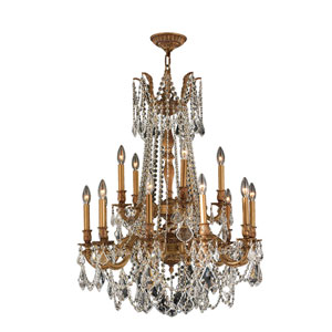 Windsor French Gold Fifteen-Light Chandelier
