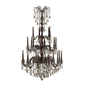 Windsor Flemish Brass Twenty-Five Light Chandelier