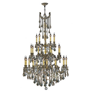 Windsor Antique Bronze Twenty-Five Light Chandelier