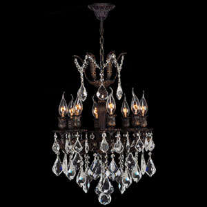 Versailles Eight-Light Flemish Brass Finish with Clear-Crystals Chandelier