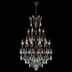 Versailles 18-Light Flemish Brass Finish with Clear-Crystals Chandelier