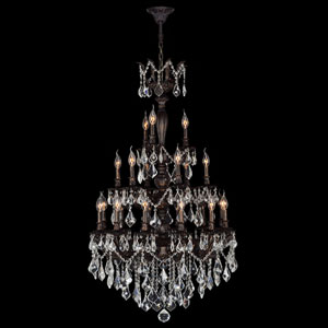 Versailles 21-Light Flemish Brass Finish with Clear-Crystals Chandelier