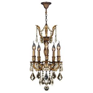Versailles Antique Bronze Five-Light Chandelier