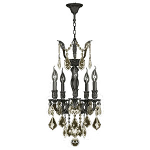Versailles Flemish Brass Five-Light Chandelier