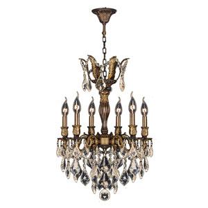 Versailles Antique Bronze Six-Light Chandelier