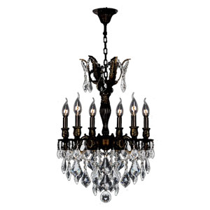 Versailles Flemish Brass Six-Light Chandelier