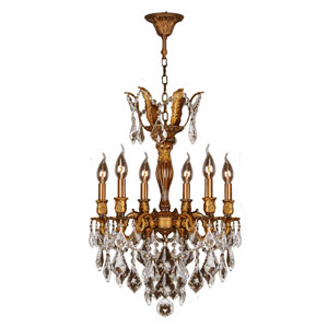 Versailles French Gold Six-Light Chandelier