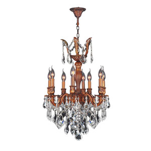 Versailles French Gold Eight-Light Chandelier