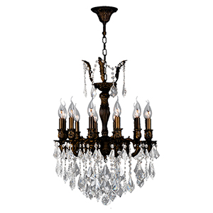Versailles Flemish Brass 20-Inch Twelve-Light Chandelier