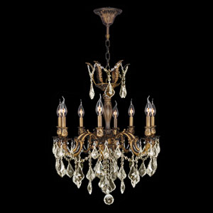 Versailles Antique Bronze Eight-Light Chandelier